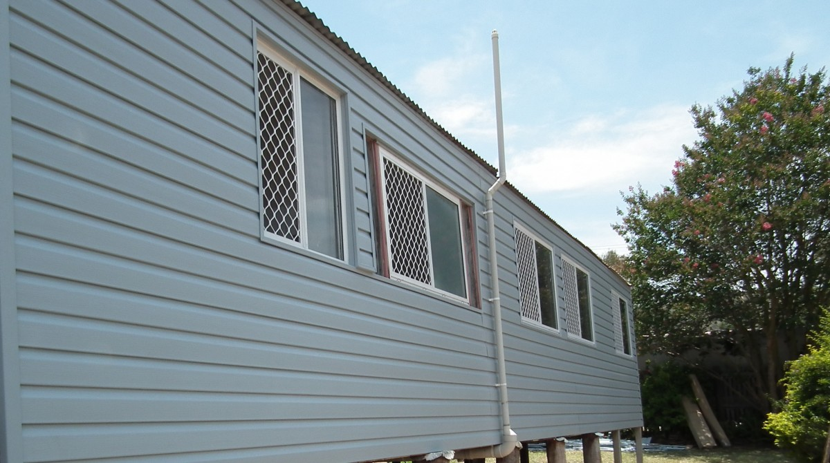 Wall cladding applied by Abbey to a home in Townsville.