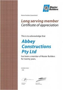 abbey thermalboards long serving member master builder certificate