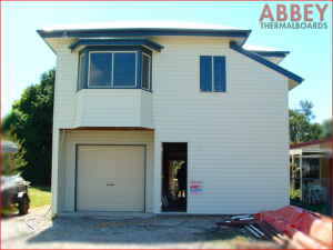 Vinyl Cladding External House Wall After - Abbey Thermalboards