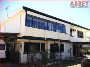 House Exterior before Modern Insulated Vinyl Cladding - Abbey Thermalboards