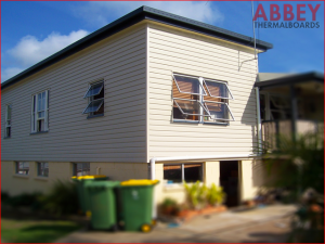 Vinyl Cladding on External House Wall After - Abbey Thermalboards