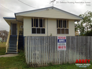 Defence Housing Association Vinyl Cladding Ivory - Abbey-Thermalboards