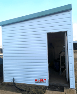 Shed Entrance (with Trim) after Abbey Cladding