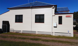 Abbey Thermalboards, Vinyl Cladding House in Maryborough, Side. Completed June 2019