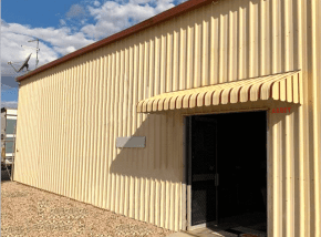 Abbey Aluminium Awnings with Closed Sides