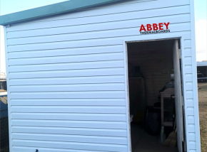 Vinyl-Cladding-Shed-Abbey-Thermalboards-Maryborough-Front