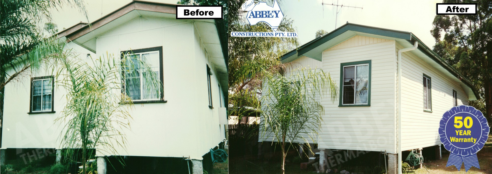 Completed house cladding with a 50 year warranty with Abbey.