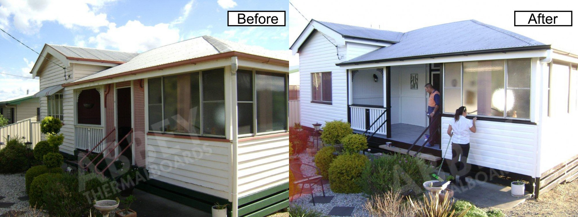 Vinyl cladding completed in Cairns by Abbey.