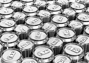 Aluminium cans are quick to recycle.