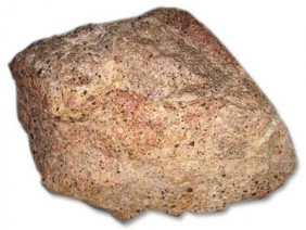 Aluminium comes from bauxite ore like this.