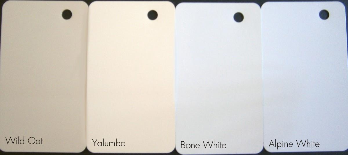 Aluminium cladding colour range.