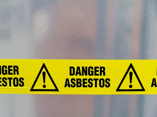 Warning asbestos.