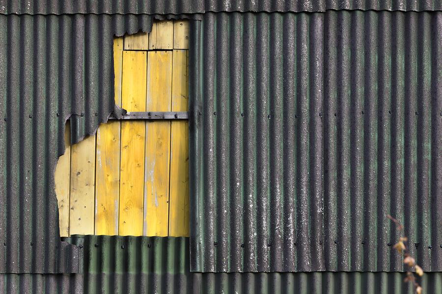 Asbestos wall.