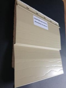 Chamferboard Wood Grain aluminium cladding thermalboard.