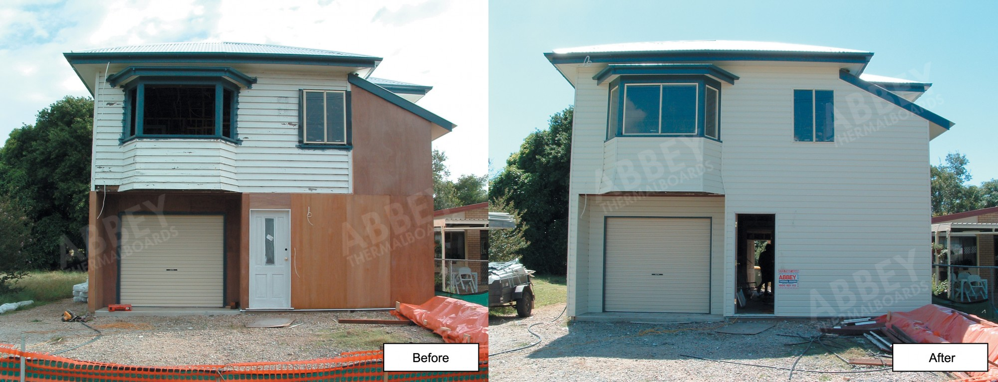 A house being renovated and finished with our cladding.