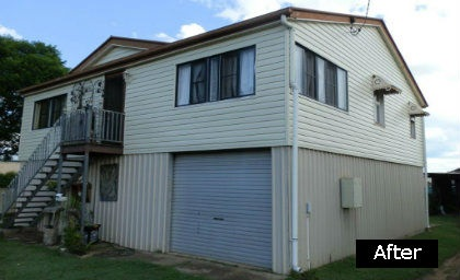 House cladding completed on a Brisbane home by Abbey Thermalboards.