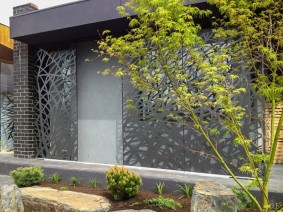 Laser cut Steel and Aluminium Cladding.