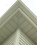 vertical boards protecting eave linings