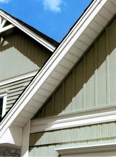 vertical boards protecting a roof gable