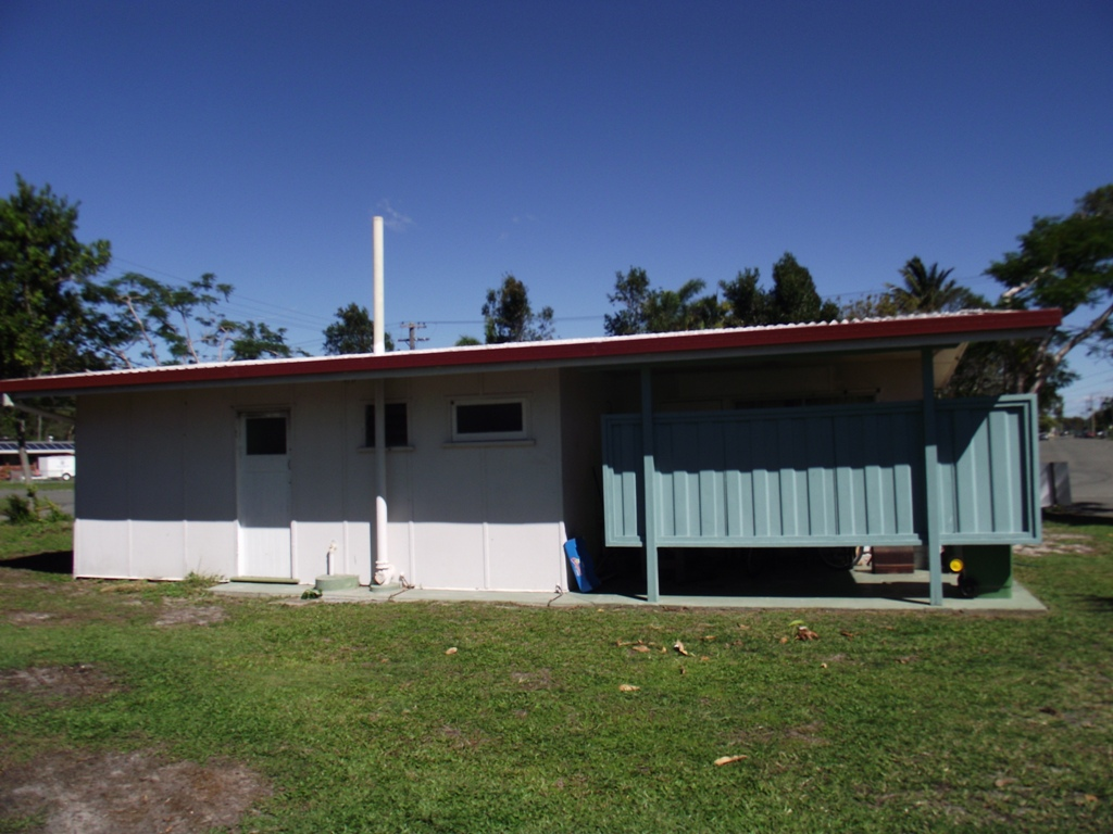 A rear view of the Maryborough home before it is extended and renovated with exterior cladding Thermalboards by Abbey.