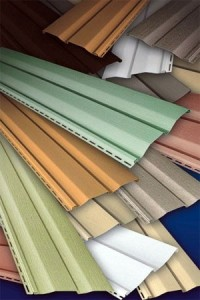 There are a range of colours that can be used in vinyl cladding.